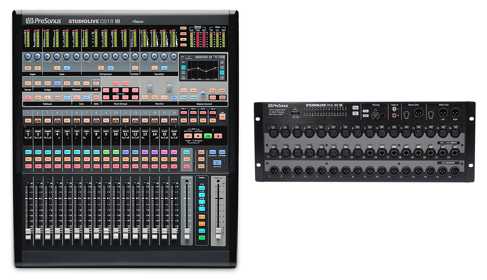 PreSonus StudioLive CS18AI Control Surface+StudioLive RML32AI 32-Channel Mixer by PreSonus