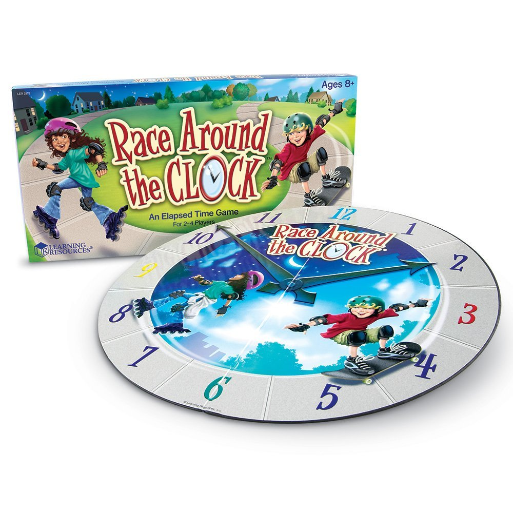Learning Resources Race Around the Clock, Clock and time ...