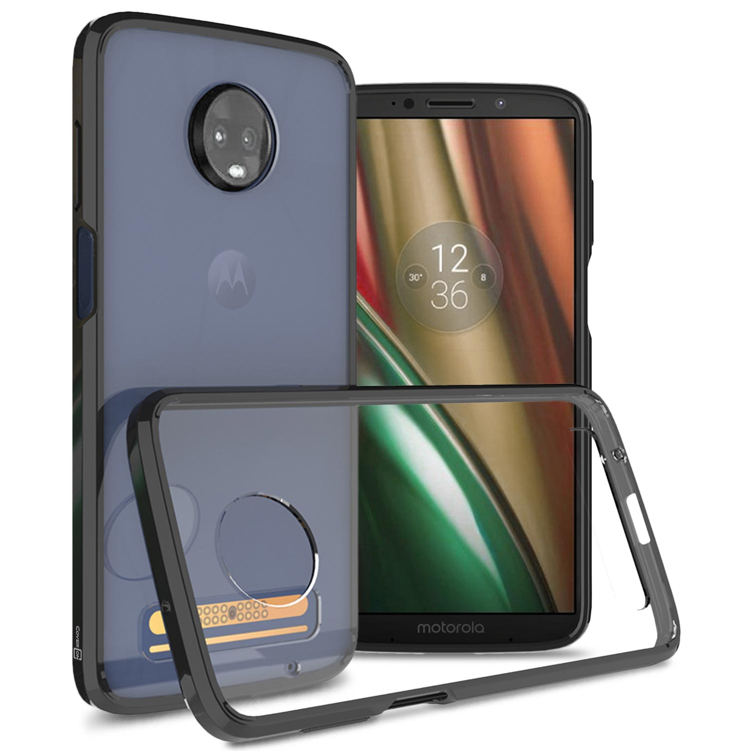 separation shoes 1cc5d 2ff31 CoverON Motorola Moto Z3 / Moto Z3 Play Case, ClearGuard Series Clear Hard  Phone Cover
