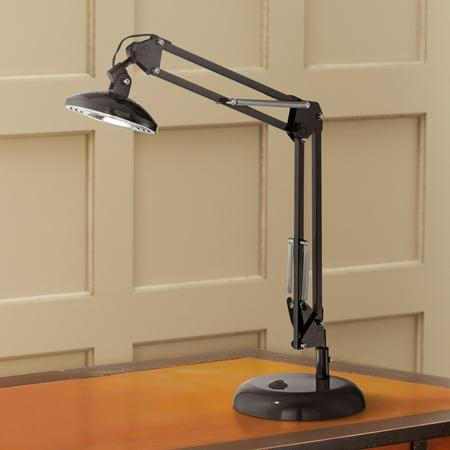 360 Lighting Modern Architect Task Lamp LED Adjustable Height Spring Loaded Arms Glossy Black for Living Room Bedroom Office