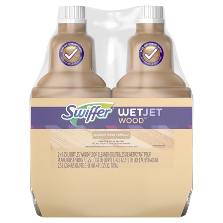 Swiffer Wetjet Wood Floor - Swiffer WetJet Wood Floor Cleaner Solution Refill (2 count, 42.2 fl oz each)