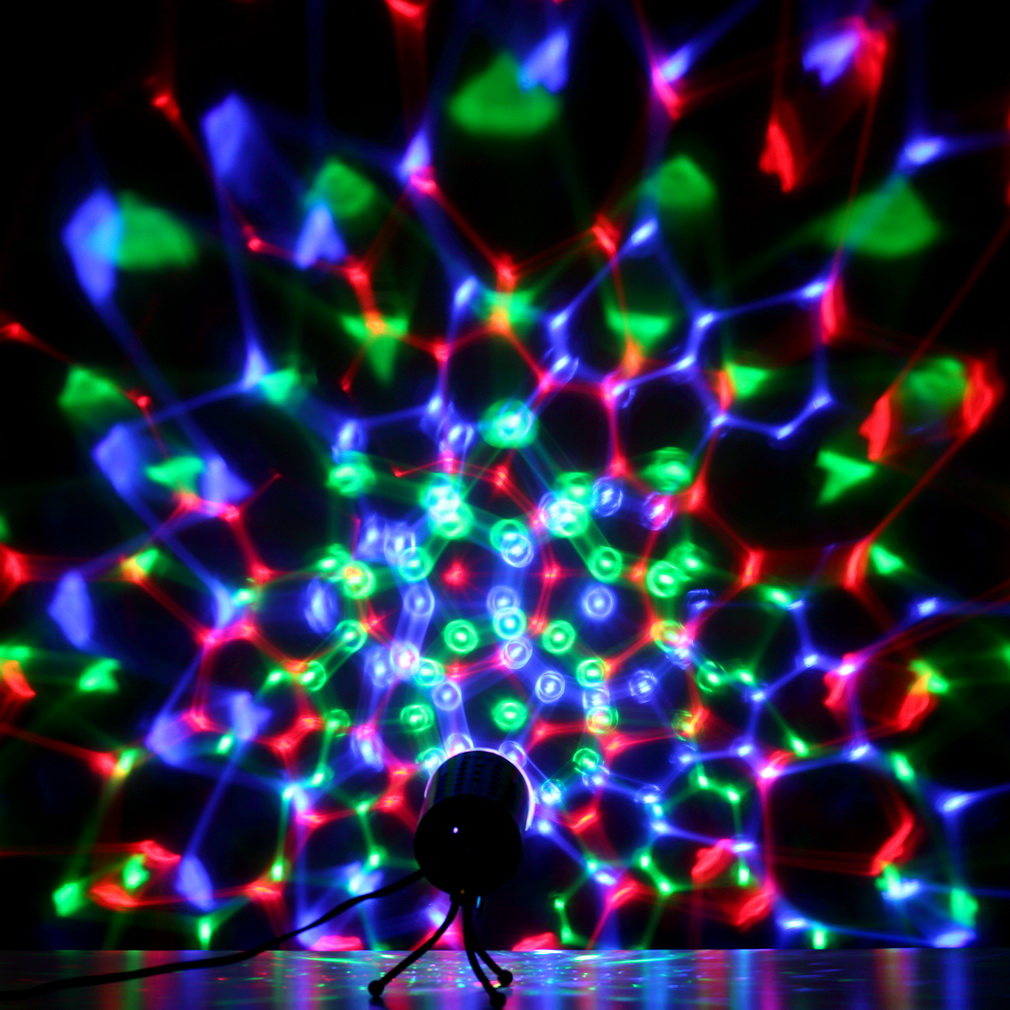 Rotating LED Crystal Stage Light- Multi Color Changing Disco Party Light by YKS