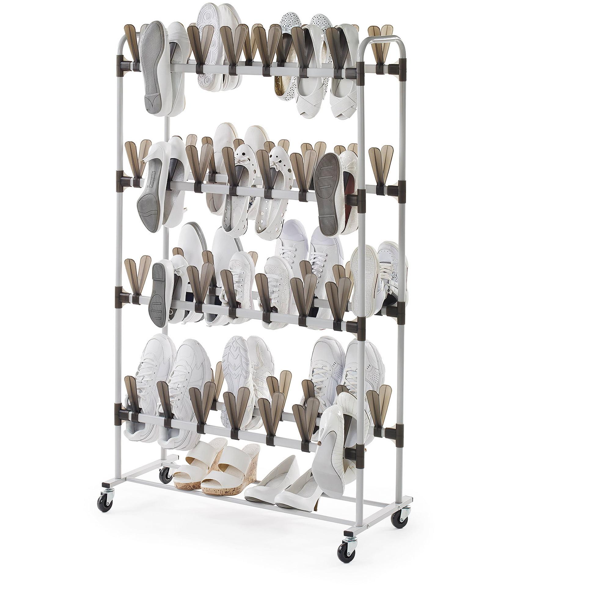 Neatfreak 60-Pair Butterfly Shoe Storage, White