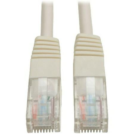 Tripp Lite 5ft Cat5e / CAT5 350MHz Moulé Patch Cable Rj45 M / m Blanc 5 & # 39; & # 39; - 5ft - 1 x RJ-45 - image 1 de 1