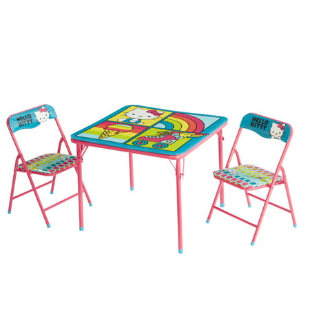 Hello Kitty 3 Piece Table and Chair Set (Hello Kitty Table And Chairs For Toddlers)