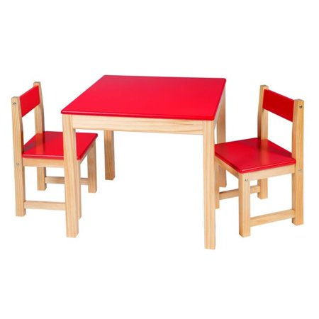 Alex Brands 0A715R Artist Studio Wooden Table & Chair Set, Red - image 1 of 1