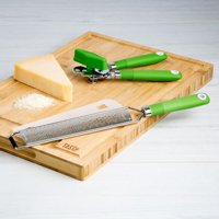 Tasty Handheld Grater and Manual Can Opener, Green