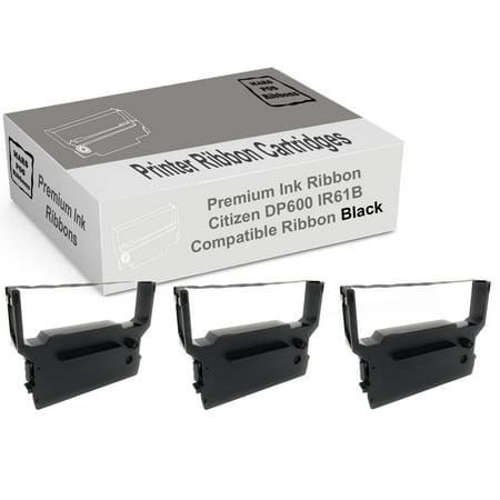 Idp 3550 Dot (Citizen iDP 3550 Black Printer Ribbon 3 Pack Compatible for Citizen DP600)