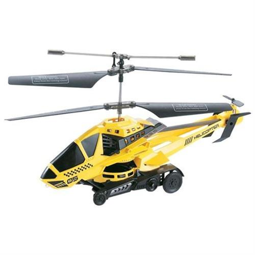 Microgear EC10404-Yellow Remote RC 3.5 Channel Shoot Disc Gyro Helicopter by Microgear