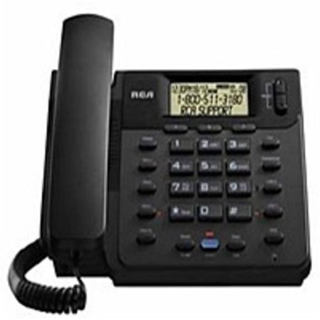 Rca Digital Telephone - RCA 25201RE1 2-Line Corded Phone - Black (Refurbished)