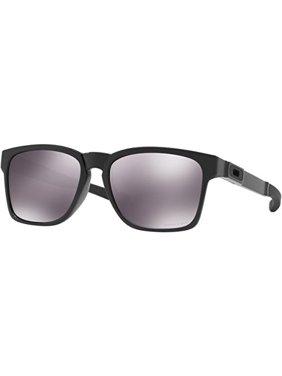 oakley men's catalyst oo9272-22 black square sunglasses
