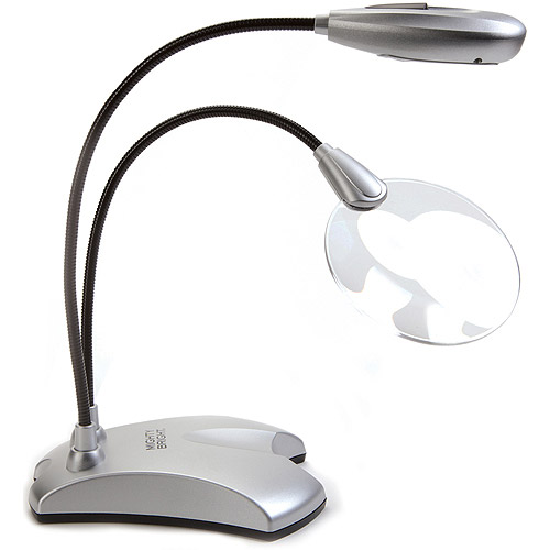 3-in Round Magnifier - 2x-6x Bifocal - Silver