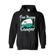 Camping One Happy Camper Unisex Hoodie Hooded Sweatshirt
