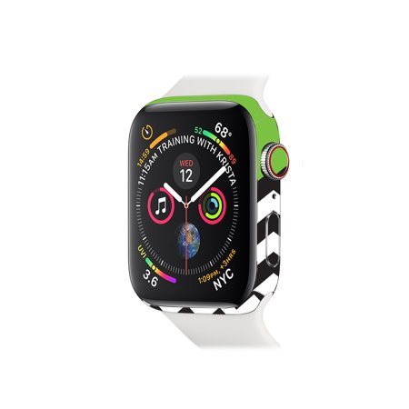 Skin for Apple Watch Series 4 44mm - Lime Chevron   Protective, Durable, and Unique Vinyl Decal wrap cover   Easy To Apply, Remove, and Change Styles