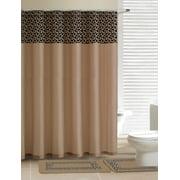 Safari Taupe Leopard 15 Piece Bathroom Accessory Set 2 Bath Mats Shower Curtain