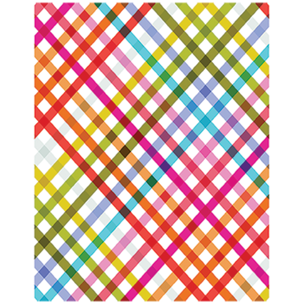 JAM Paper Design Tissue Paper, Plaid Pattern Pop, 3 Packs of 4 Sheets