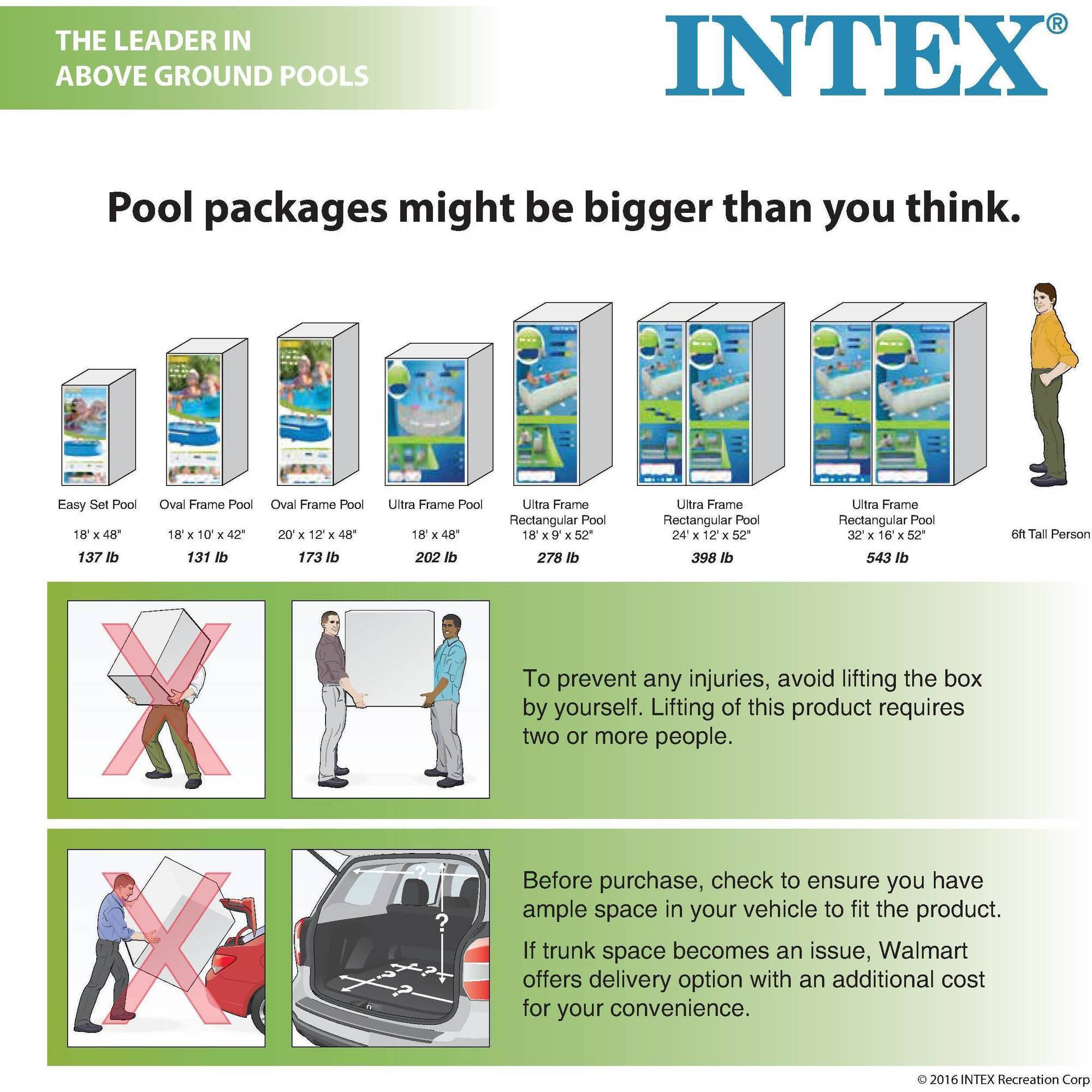 Intex 16 X 48 Ultra Frame Swimming Pool Walmartcom