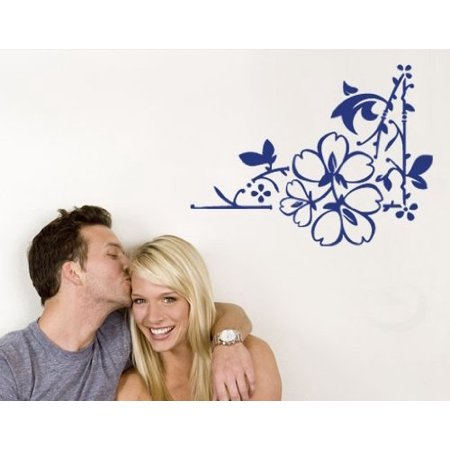 Love Leaves Corner Wall Decal floral Wall Sticker Vinyl Wall Art Home