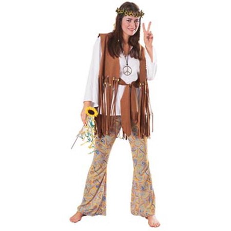 Hippie Love Child Adult Halloween Costume, Size: Women's - One Size - Childs Hippie Costume