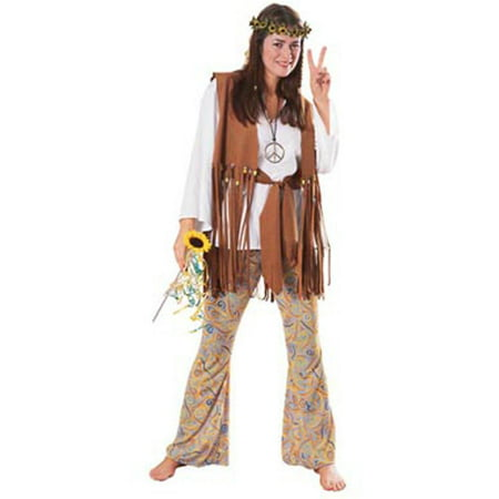 Hippie Love Child Adult Halloween Costume, Size: Women's - One Size