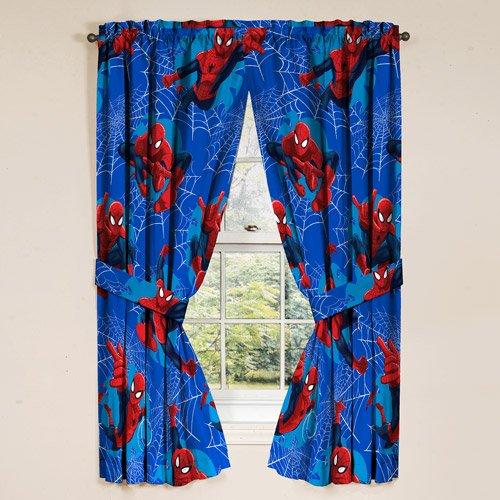 Spiderman Drapes, Set Of 2