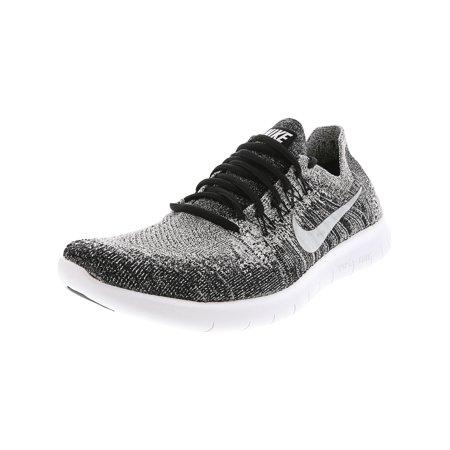 huge discount 8e0c3 6b52d Nike Women's Free Rn Flyknit 2017 Black / White Volt Ankle ...