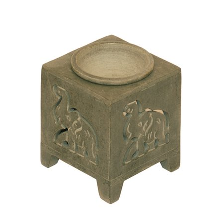 Om Design Stone Oil Diffuser Burner 3 5  For Tea Light Candles