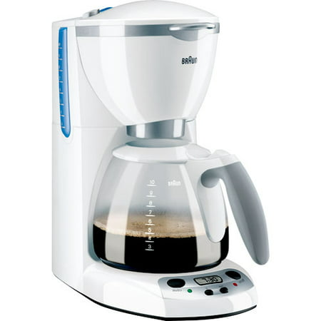 Braun Coffee Maker How To Use : Braun AromaDeluxe 10-Cup Programmable Coffee Maker, White - Walmart.com