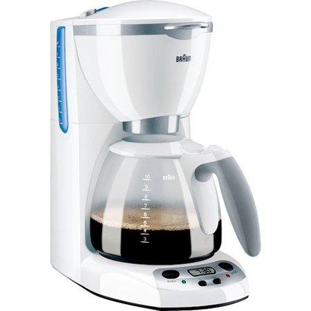 Braun AromaDeluxe 10-Cup Programmable Coffee Maker, White - Walmart.com