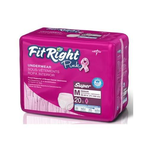FitRight Pink Protective Underwear,Medium FITPINKMD