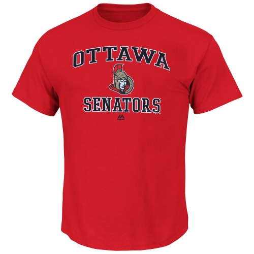 Ottawa Senators Majestic Heart & Soul T-Shirt - Red