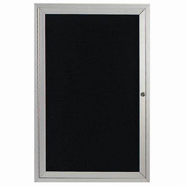 Aarco Products OADC4836I 48 inch H x 36 inch W 1-Door Illuminated Outdoor Enclosed Directory Board - Clear Satin Anodized