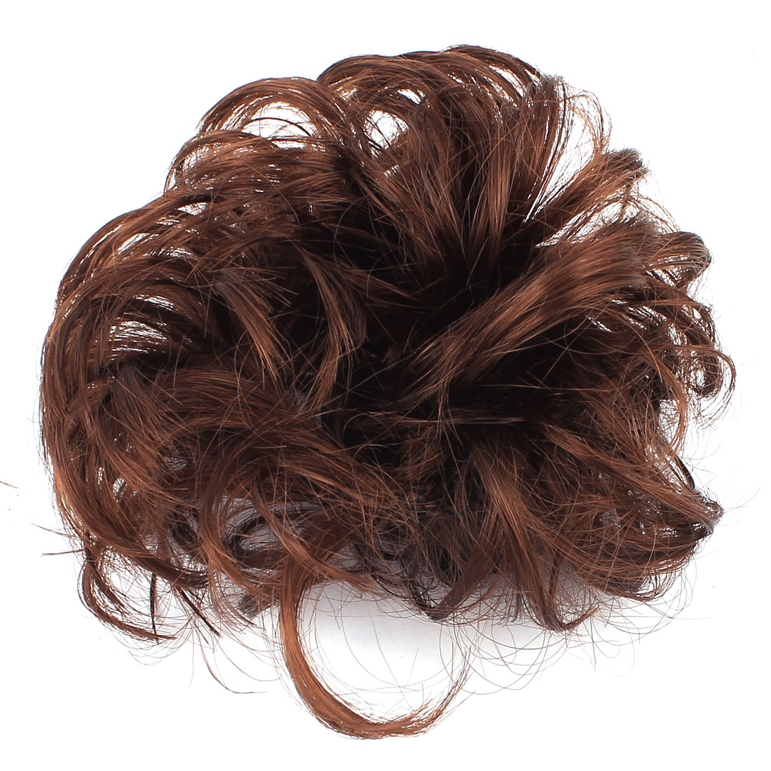 Woman Lady Ponytail Holder Bun Curly Wig Elastic Rope Hair Head Band Brown