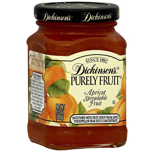 Dickinson's Purely Fruit Apricot Spreadable Fruit, 9.5 oz (Pack of 6)