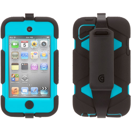Griffin Survivor Case for iPod touch 4G, Black and Blue