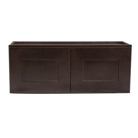"Design House 562231 Brookings 33"" Corner Wall Cabinet, Espresso Shaker"