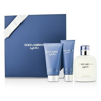 Dolce   Gabbana Homme Light Blue Coffret  Edt Spray 125ml 4.2oz + After 2fd11d6a74d9