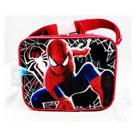 Lunch Bag - Marvel - Spiderman Black Hero Kit Case Anime New a02199](Spiderman Lunch Box)