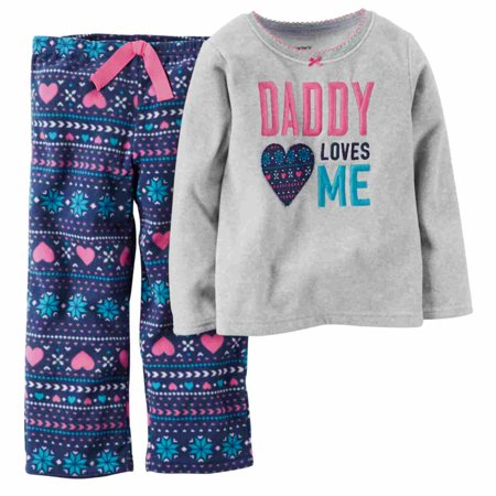 d0fde5e65a05 Carters - Carter Infant Toddler Girl Daddy Loves Me Pajama Sleepwear ...