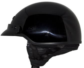 Large ZOX ST-224 /'Banos STG Street/' Glossy White Motorcycle Half Helmet