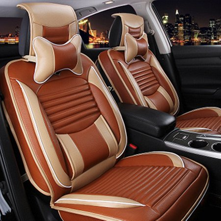 Material:Polyurethane(PU) leatherColor:Beige,Yellow,BrownFeatures:*Made of high quality PU leather and soft foam,provide comfortable seating feeling*Full surround design,and the back three base ca - image 1 de 1
