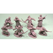 1/32 WWII German Soldiers in Long Coats Figure Playset (16)