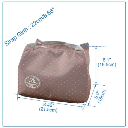 Insulated Lunch Bag Warm Cooler Fresh Travel Tote Box Bag Wave Point Light Brown - image 5 de 7