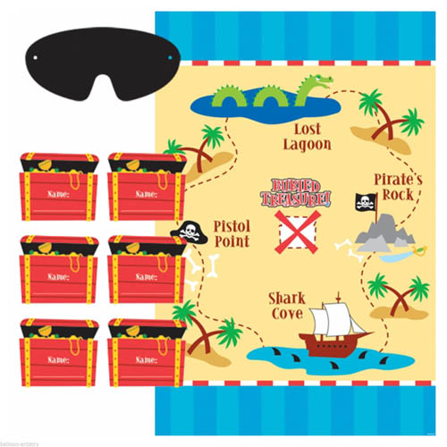 Pirate Party 'Pirates Treasure' Party Game Poster (1ct)