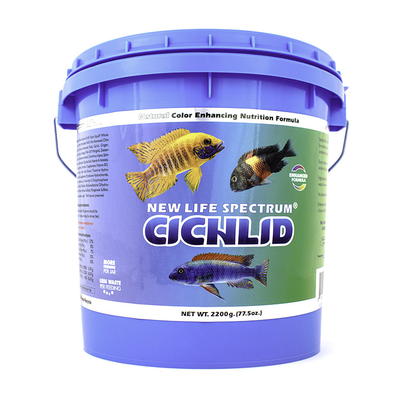 New Life Spectrum Cichlid Color Enhancing Fish Food Pellets, 2.2kg