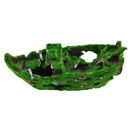 Underwater Treasures Mossy Sunken Ship - image 1 de 1