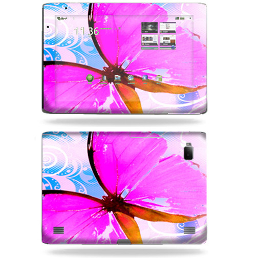 Mightyskins Protective Vinyl Skin Decal Cover for Acer Iconia Tab A500 tablet wrap sticker skins Pink Butterfly