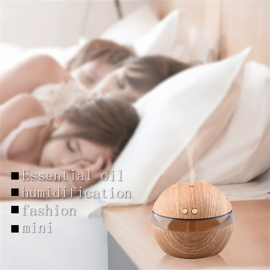 Mini USB Air Aroma Essential Oil Diffuser Mist Maker LED Light Humidifier