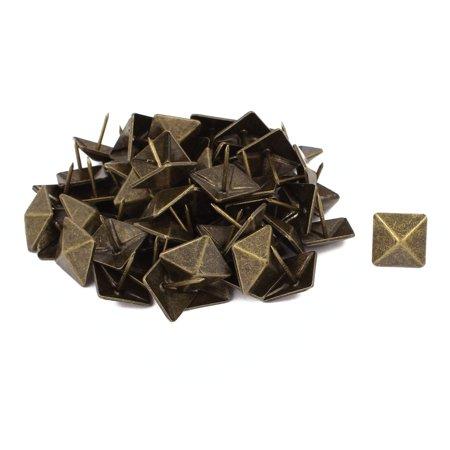 Upholstery Tack Strips (19mm Dia Square Upholstery Nail Decorative Tack Stud Push Pin Thumbtack 60PCS)