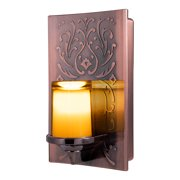 GE CandleLite LED Plug-In Night Light, Flickering Candle Design, Oil Rubbed Bronze, 11258
